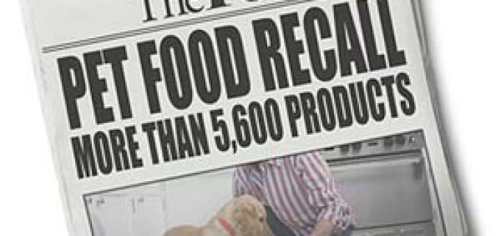 Pet Deaths Prompt Recall of Pet Food